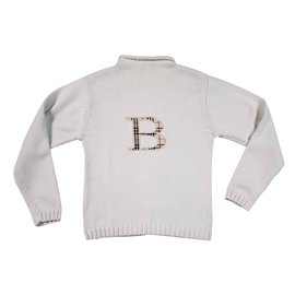 Burberry-Sweaters-White