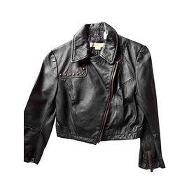 Autre Marque-Killah parfaite en cuir noir-Noir