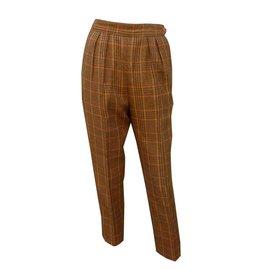 Hermès-Pantalons, leggings-Marron clair