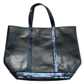 670b9e2329 Vanessa Bruno-Cabas cuir paillettes-Bleu Marine ...