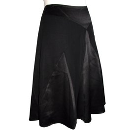 Temperley London-silk skirt-Black
