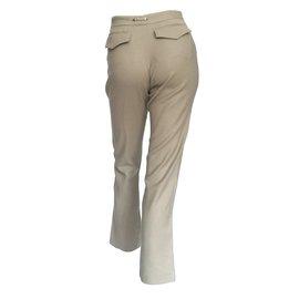 Gucci-pantalon en laine-Beige