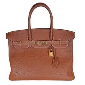 Hermès-Birkin 35 togo camel-Brown