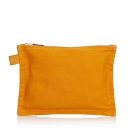 Hermès-Bora Bora Zip Pouch-Orange