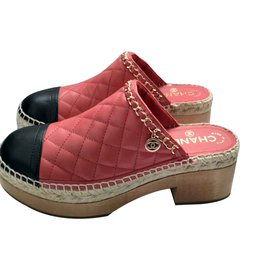 Chanel-Chanel mules-Red