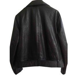 Les Petites-Biker leather jacket-Black