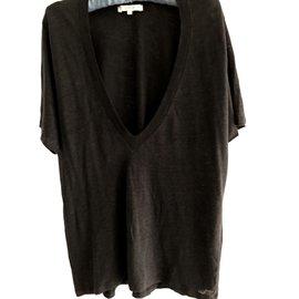 Iro-Tee shirt en lin-Noir