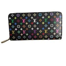 Louis Vuitton-Portefeuille Zippy multicolore-Noir