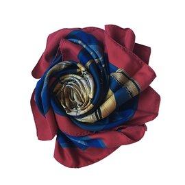Hermès-Compagnons de mer-Rouge,Bleu,Beige