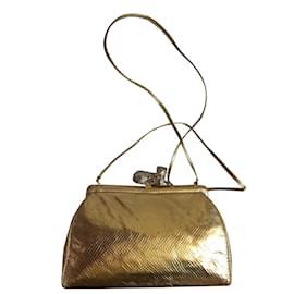 Judith Leiber-Evening bag-Golden leather-Golden