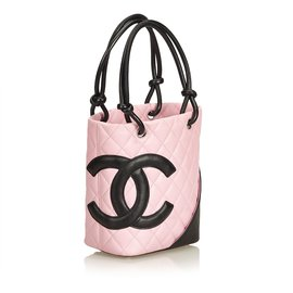 Chanel-Cambon Ligne Petit Bucket Bag-Noir,Rose