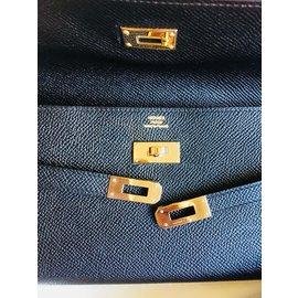 Hermès-Kelly Long Classic Epsom black-Black