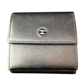 Chanel-Portefeuille compact-Noir