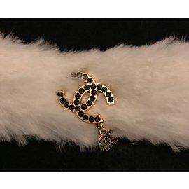 Chanel-Collier ras de cou shoker-Blanc