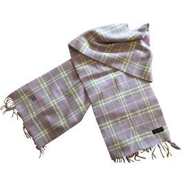 Burberry-Superbe écharpe laine et cachemire-Violet ... 46bafe2d2bf