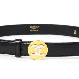 Chanel-CERCLE DORÉ T70-Noir