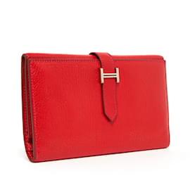 Hermès-BEARN 3 VOLETS ROUGE-Rouge