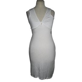 Costume National-Dress with lace-White