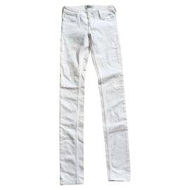 Acne-Jean skinny blanc Kex Optic-Blanc