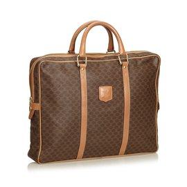 Céline-Macadam Briefcase-Brown