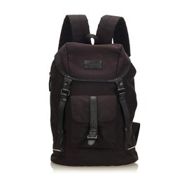Burberry-Canvas Backpack-Black