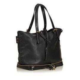 Chloé-Leather Ellen-Black