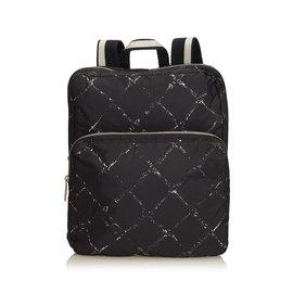 Chanel-Old Travel Line Backpack-Black,White