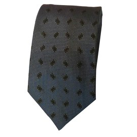 Lanvin-Cravate-Kaki,Bleu clair