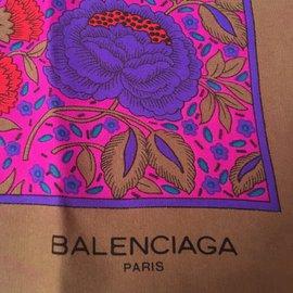 Balenciaga-BB 85x80 cm Soie-Multicolore