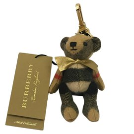 Burberry-new burberry cashmere keyring-Beige