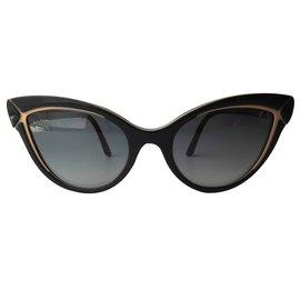 Bulgari-Lunettes de soleil Cat Eye BV8156B C54 53528G-Noir
