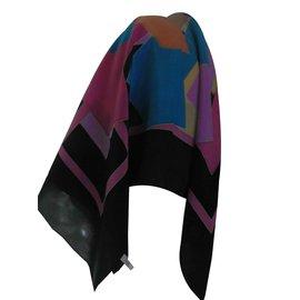 Autre Marque-Foulards de soie-Multicolore