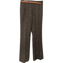 Zapa-Pantalon droit-Marron