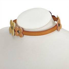 Louis Vuitton-Vernis Fleurs Double Wrap Bracelet Choker-Multicolore,Violet