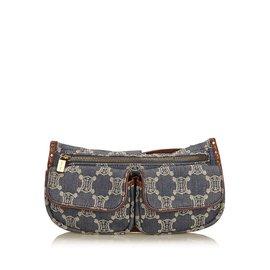Céline-Macadam Denim Belt Bag-Brown,Blue,Other,Dark brown