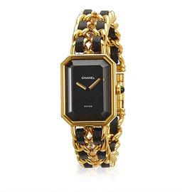 Chanel-Premiere Watch Chain-Black,Golden