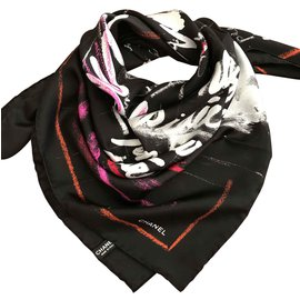 Chanel-Chanel scarf-Black
