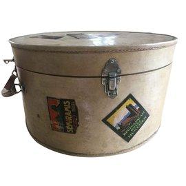 Maison Michel-Beautiful leather hat box-Beige