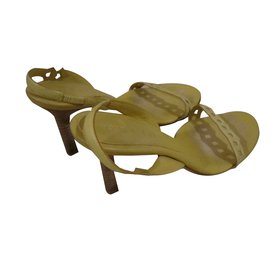 Céline-sandals-Yellow