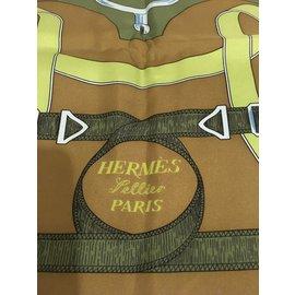 Hermès-Carré - Sellier Paris Éperon d'Or-Marron,Bleu,Vert