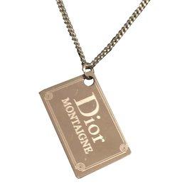 Dior-Collier et  pendentif-Argenté