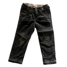 Burberry-Pantalon slim en velours ras-Gris