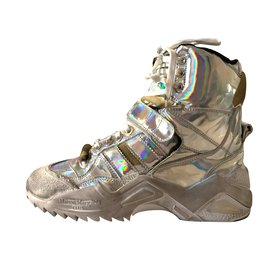 Maison Martin Margiela-Retro fit new sneakers-Silvery