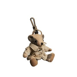 Burberry-Key ring Thomas Bear with trench coat-Beige