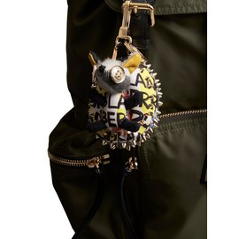 Burberry-Bob the Hedgehog cotton keychain with graffiti print-Multiple colors