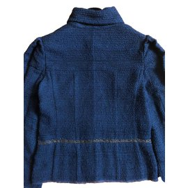 Chanel-Vestes-Bleu foncé