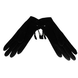 Hermès-Gloves-Black,Silvery