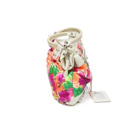 Balenciaga-Sac balenciaga in tissu floral-White,Multiple colors