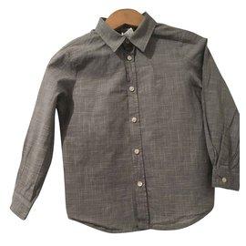 Bonpoint-Jungenjeans und -hemd eingestellt-Schwarz,Weiß,Blau