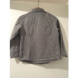 Bonpoint-Ensemble jeans et chemise garçon-Noir,Blanc,Bleu